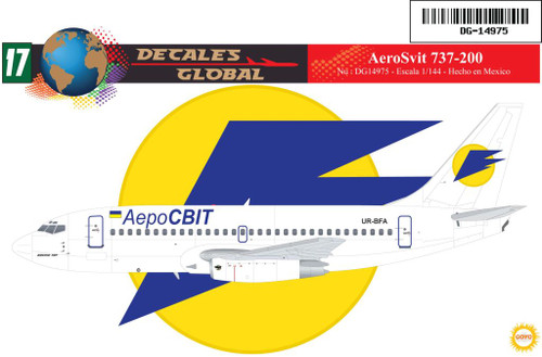 1/144 Scale Decal AeroSvit 737-200