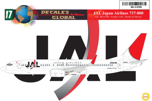 1/144 Scale Decal JAL - Japan Airlines 737-800