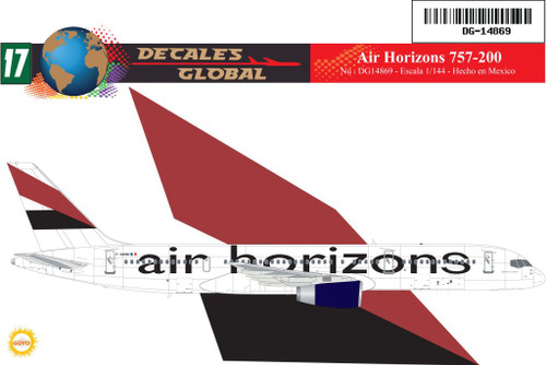1/144 Scale Decal Air Horizons 757-200