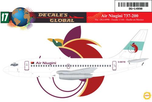 1/144 Scale Decal Air Niugini 737-200