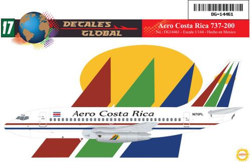 1/144 Scale Decal Aero Costa Rica 737-200