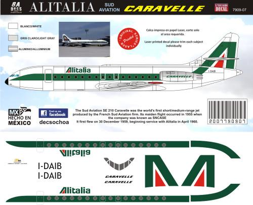 1/144 Scale Decal Alitalia Caravelle
