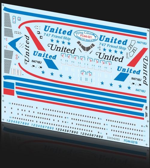 1/144 Scale Decal United Stars & Bars 747