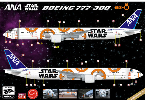 1/144 Scale Decal ANA Star Wars BB8 777 Logojet