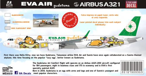 1/144 1/200 1/400 1/500 Scale DecalEva AirA-321 Guatemala