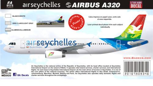1/144 Scale Decal Air Seychelles A-320