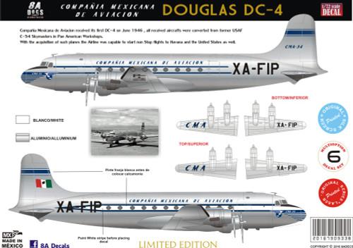 1/72 Scale DecalMexicana DC-4