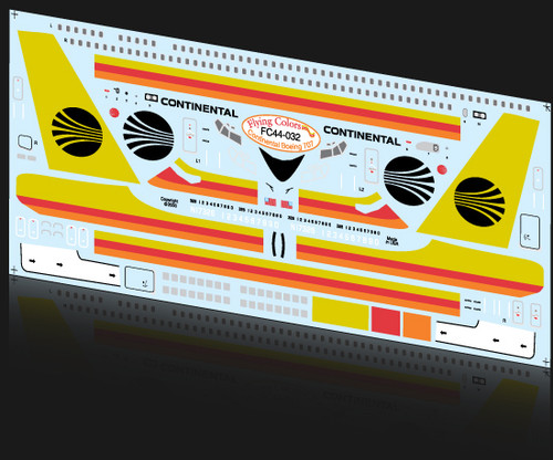 1/144 Scale Decal Continental 707