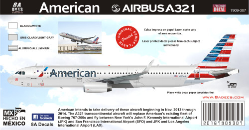 1/144 Scale DecalAmerican A-3212015