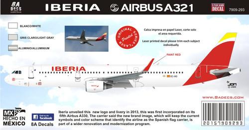 1/144 Scale Decal Iberia A-321 2016