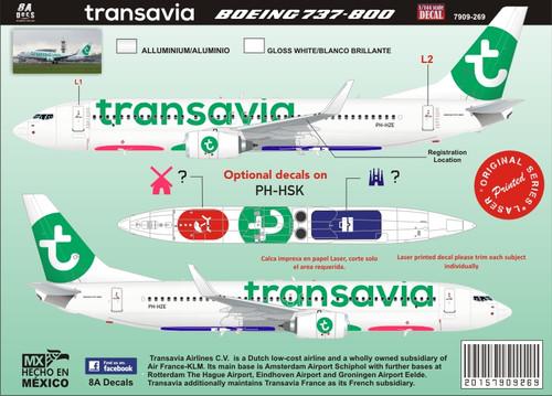 1/144 Scale Decal Boeing 737-800 Transavia 2015