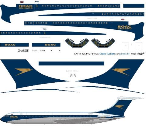 1/144 Scale Decal BOAC Super VC-10