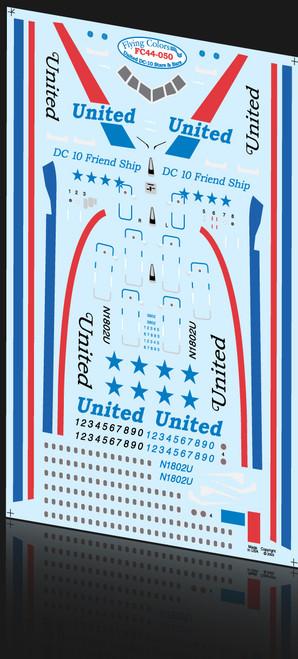 1/144 Scale Decal United Stars & Bars DC-10