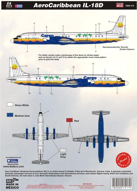 1/144 Scale Decal Aerocaribbean IL-18