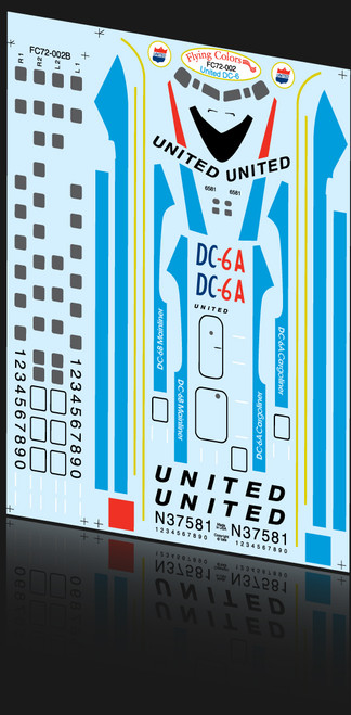 1/72 Scale Decal United DC-6