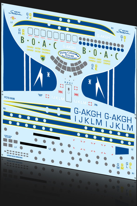 1/72 Scale Decal BOAC Stratocruiser