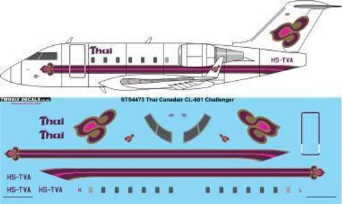 1/144 Scale Decal Thai Airways Canadair CL-601 Challenger