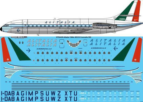 1/144 Scale Decal Alitalia Delivery Caravelle III