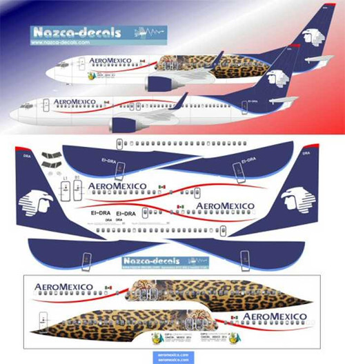 1/144 Scale Decal Aeromexico B737-800