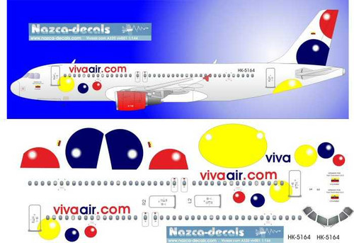 1/200 Scale Decal Vivaair.com A-320