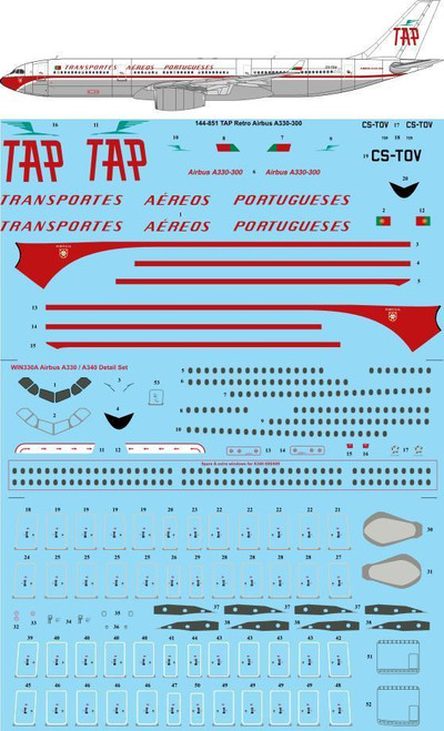 1/144 Scale Decal TAP Retro Airbus A330-300