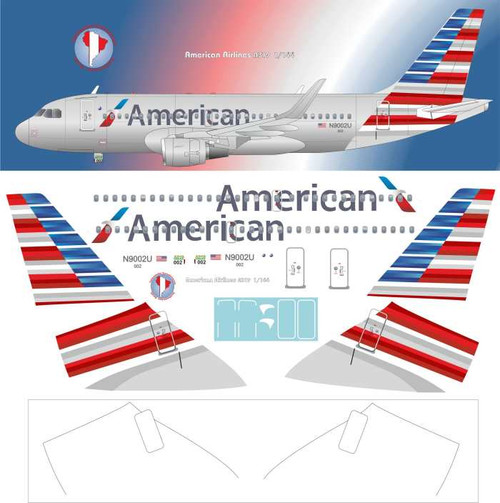 1/144 Scale Decal American A-319