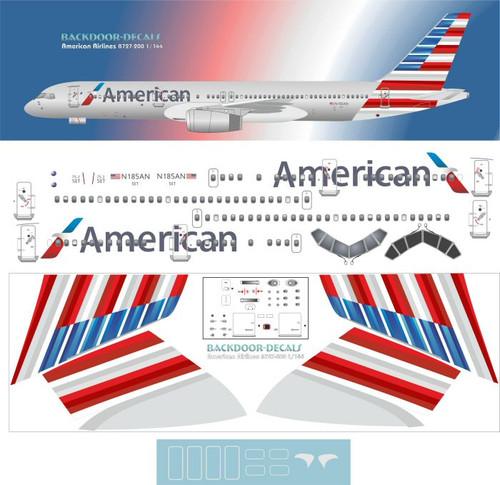 1/144 Scale Decal American 757-200