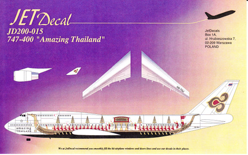 1/200 Scale Decal Thai Airways 747-400 Amazing Thailand