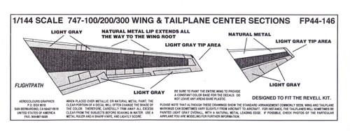 1/144 Scale Decal 747-100 / 200 / 300  Coroguard