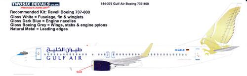1/144 Scale Decal Gulf Air 737-800