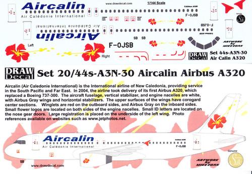 1/144 Scale Decal Aircalin A-320