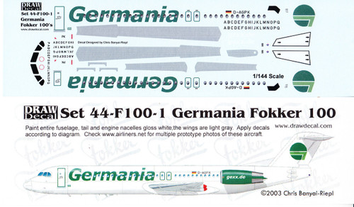 1/144 Scale Decal Germania F-100