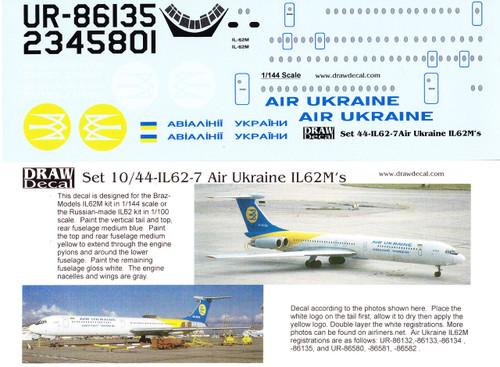 1:144 PAS-Decals #PF-14403 Photo glazed cockpit on the Ilyushin IL-14
