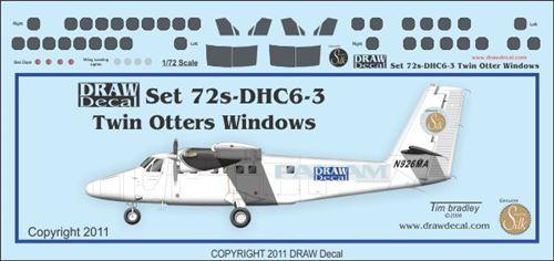 1/72 Scale Decal DCH-6 Cockpit & Windows