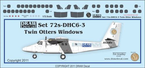 1/72 Scale Decal DCH-6 Cockpit & Windows