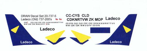 1/200 Scale Decal Ladeco 737-200