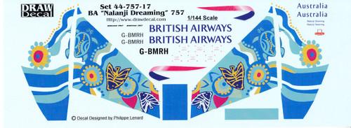 1/144 Scale Decal British Airways 757 Nalanji Dreaming
