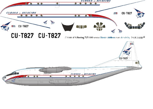 1/144 Scale Decal Cubana AN-12