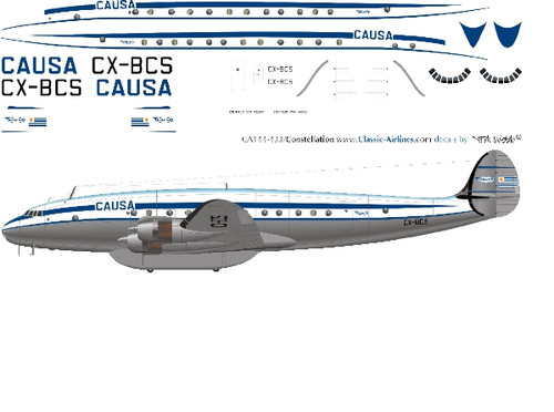1/144 Scale Decal CAUSA (Uraguay) Constellation