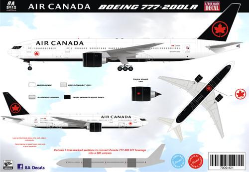 1/144 Scale Decal Air Canada 777-200LR 2017