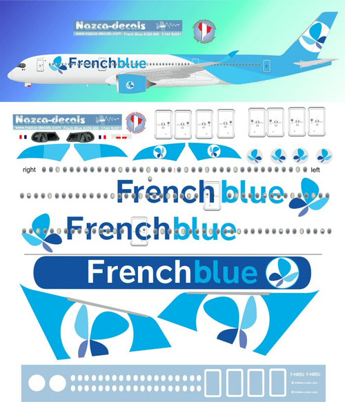 1/144 Scale Decal French Blue A-350