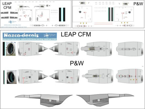 1/144 Scale Decal A-320 NEO Engine Details