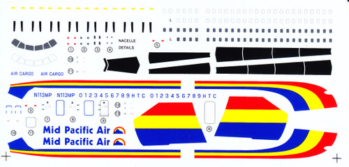1/144 Scale Decal Mid Pacific Air YS-11