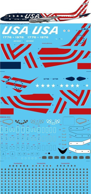 1/144 Scale Decal ONA DC8-32 BICENTENNIAL
