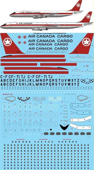 1/144 Scale Decal Air Canada DC-8