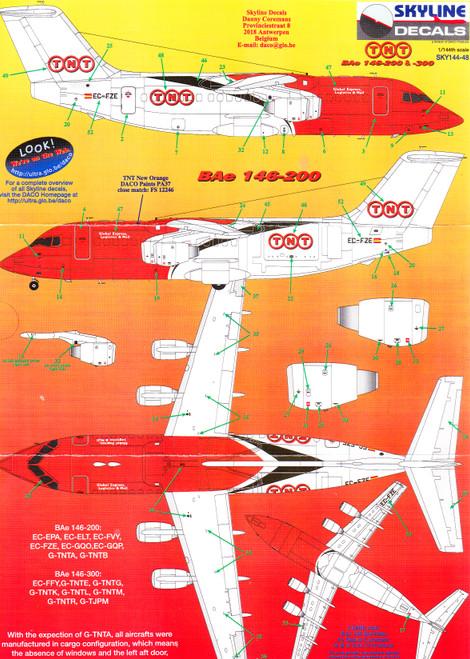 1/144 Scale Decal TNT BAe 146-200