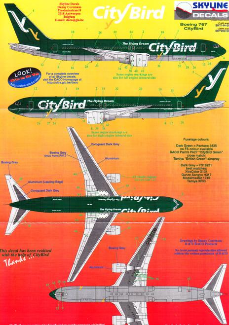 1/144 Scale Decal City Bird 767