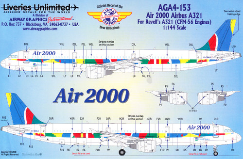 1/144 Scale Decal Air 2000 A-321