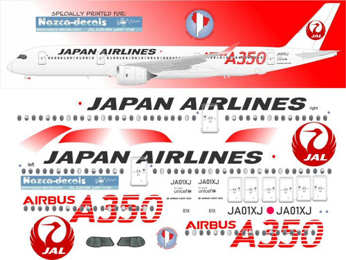1/144 Scale Decal JAL A350-900
