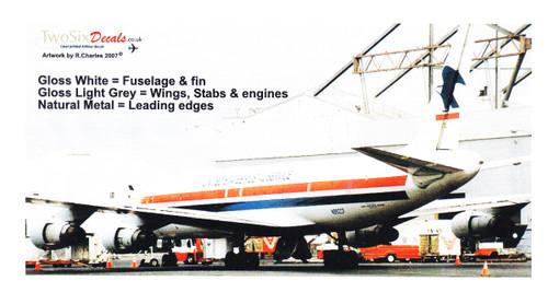 1/144 Scale Decal USPS DC8-54AF
